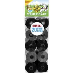 Bags On Board 3203940046 Black / Grey Bags On Board Waste Pick-Up Refill Bags 140 Count Black / Grey