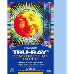 Strathmore / Pacon Papers 103016 Tru Ray Sulphite Construction Sky Blue 50 Pack 9X12 103016