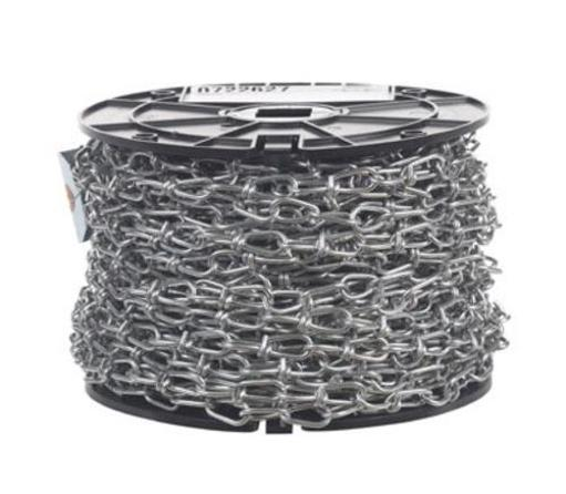 Campbell Chain 0722627 Inco Double Loop Chain 125' - Zinc