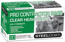 Petoskey Plastics Fg-p9934-51 Steelcoat Pro Contractor Trash Bag, 42-gallon
