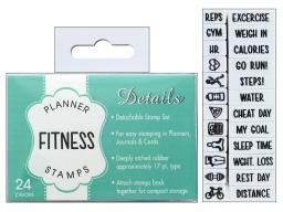 Cttcu07960 contact usa planner details stamp set fitness 24pc
