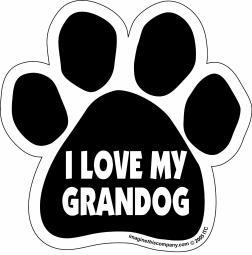 "I Love My Granddog Paw Magnet Dog Cat 5.5"" x 5.5"" Shaped Puppy Kitten"