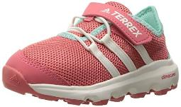 adidas outdoor Terrex Climacool Voyager CF Lace-up Shoe, Tactile Pink/Chalk White/Easy Green, 5 M US Big Kid