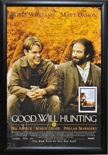 Good Will Hunting - Signed Movie Poster in Wood Frame with COA