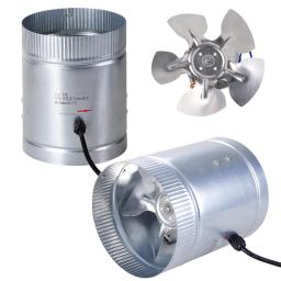"""Yescom 6"""" Inline Duct Booster Fan 260CFM Cooling Exhaust Blower for Indoor Home Grow Tent(pack of 2)"""