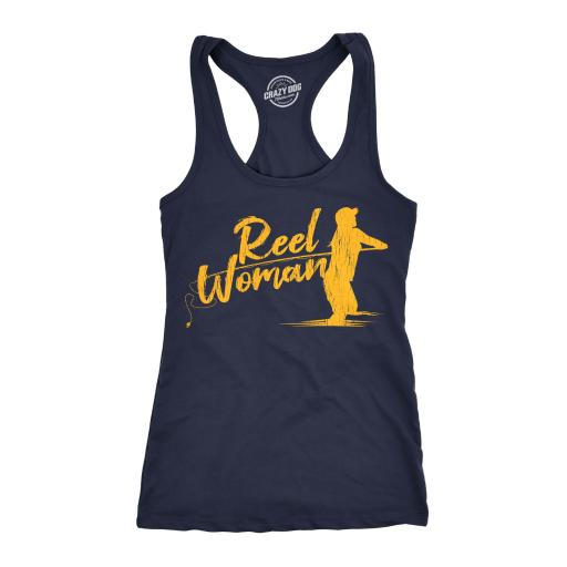 Womens Tank Reel Woman Tanktop Funny Fishing Shirt
