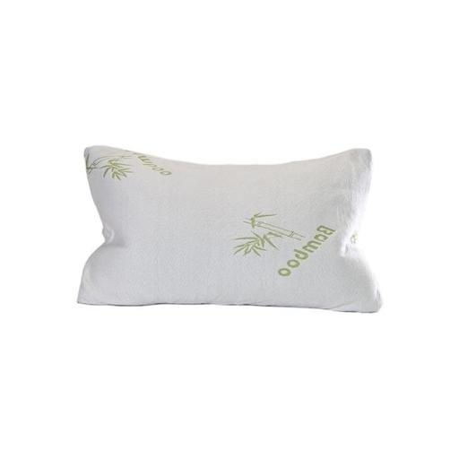Living Health Products BMB-SMS101 Premium Shredded Memory Foam Bamboo Pillow with Inner Polyester Cover - Standard Size