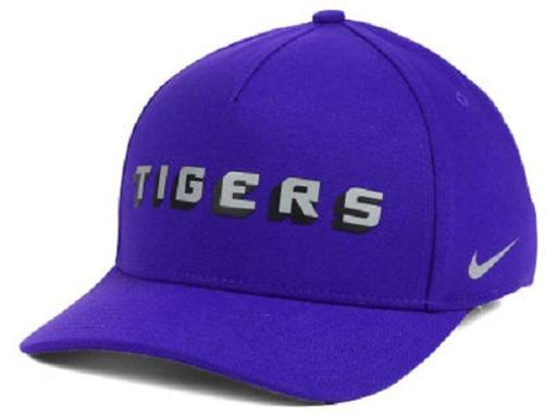 LSU Tigers NCAA Nike Local Dri-Fit Swoosh Flex Fitted Hat