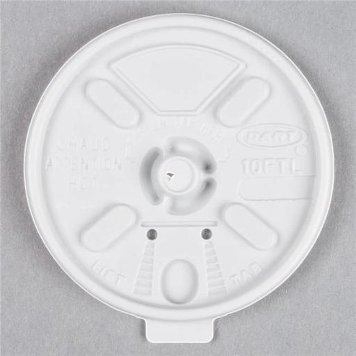 Dart 10FTL CPC Lift N Lock Lid for Cup - White, Case of 1000