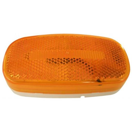 Amber Oval LED Clearance & Side Marker Light With Reflex