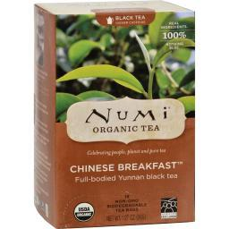 Numi Chinese Breakfast Yunnan Black Tea - 18 Tea Bags - Case of 6