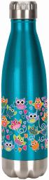 Spoontiques 20608 owls stainless water bottle