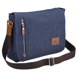 "AW™ 14"" Vintage Canvas Cross Body Schoolbag Satchel Shoulder Messenger Bag Bookbag Men Women Student"