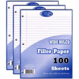Filler Paper, 100 Count, Wide-Ruled