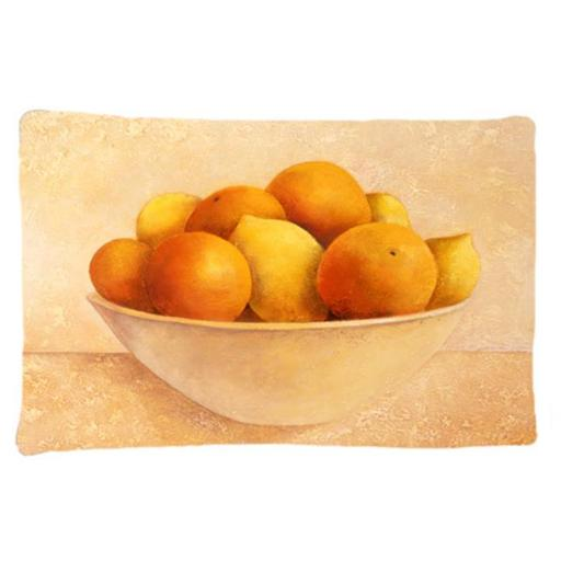 Carolines Treasures BABE0085PILLOWCASE Oranges & Lemons in a Bowl Fabric Standard Pillowcase
