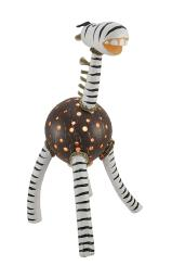 Recycled Coconut Shell Zebra Accent Lamp Night Light