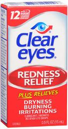 Clear Eyes Redness Relief Lubricant Eye Drops - 0.5 Fl Oz, Pack Of 3