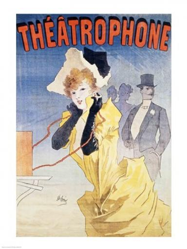 Poster Advertising the 'Theatrophone' Poster Print by Jules Cheret