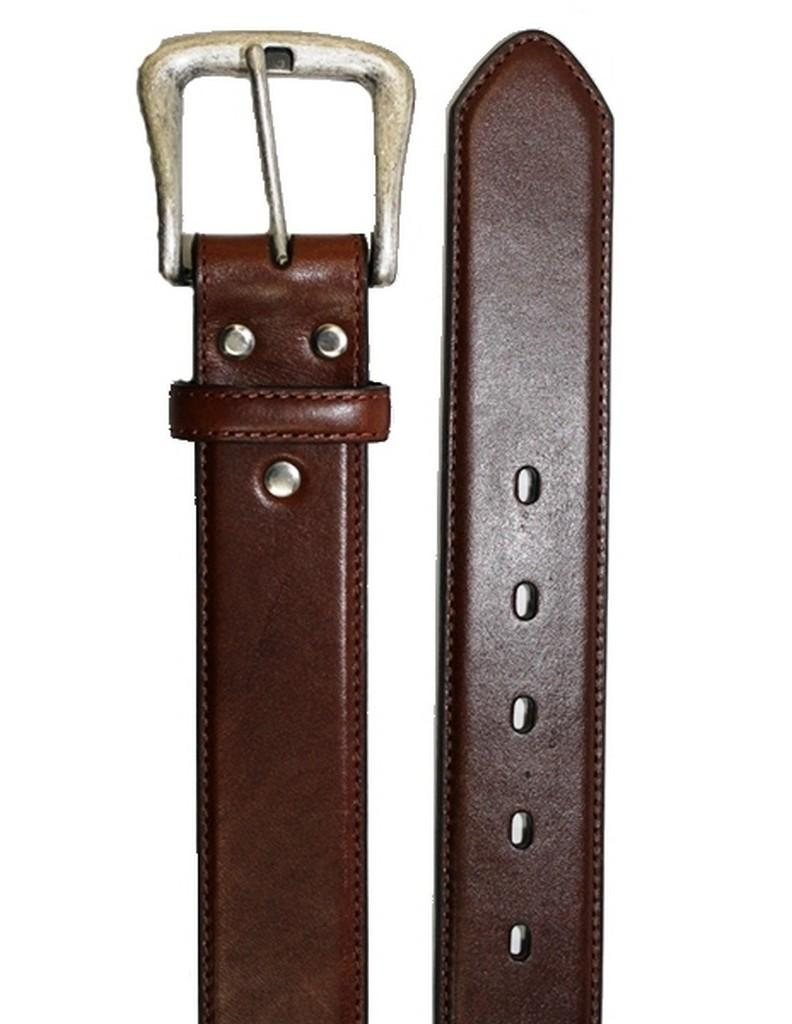 Nocona Western Belt Mens Smooth Leather Smooth Rich Brown N2450002