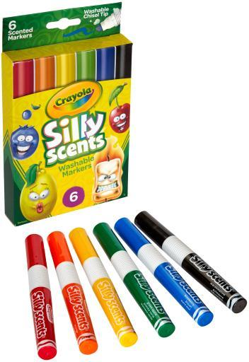 Crayola Silly Scents Wedge Tip Washable Markers- A4UYSBW7KIATMDE8