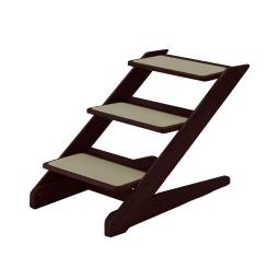 Richell 94807 Brown Richell 3-Step Pet Stool V1 Brown 15 X 26.4 X 18.3