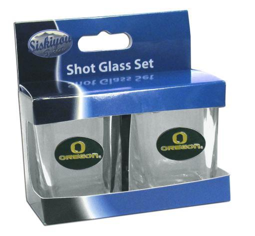 Oregon Ducks NCAA 2 oz Square Shot Glass Set RMTU6TEVX8YVOIA2