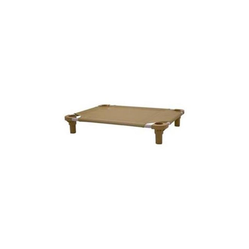4Legs4Pets C-BN3030TL 30 x 30 in. Unassembled Pet Cot - Brown with Teal Legs