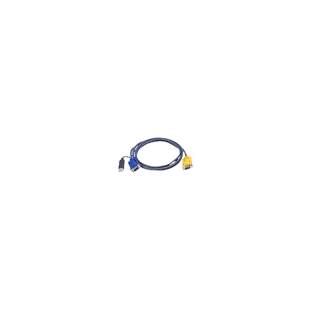 Aten 2l5202up 6 ps2 to usb intelligent kvm cable, sphd15m to vga & usb a