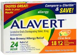 Alavert 24 Hour Allergy Relief Orally Disintegrating Tablets Citrus Burst - 18 Ct, Pack Of 3