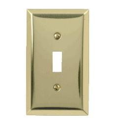 Amertac 163tbr Traditional 1 Toggle Wallplate, Polished Brass