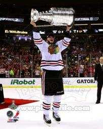 Jonathan Toews with the Stanley Cup Game 6 of the 2013 Stanley Cup Finals Sports Photo PFSAAQA04401