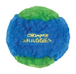 Chomper Assorted Ball Plush/Rubber Squeaker Ball Dog Toy Large - Case Of: 1;