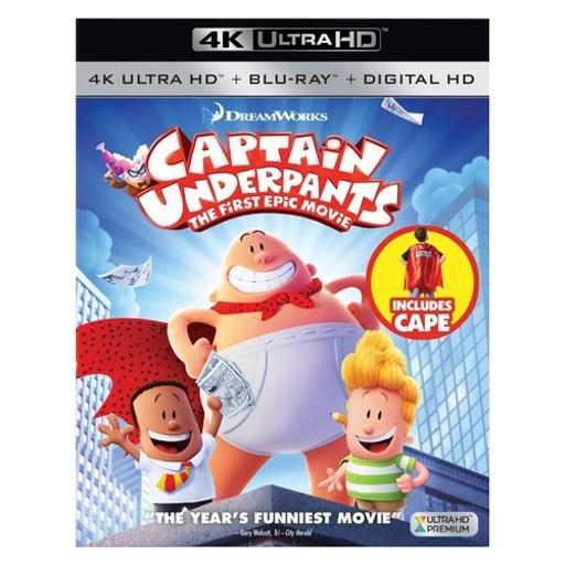Captain underpants-1st epic movie (blu-ray/4k-uhd/digital hd/cape) EZVU0WUUVNX18NUS