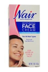 Moisturizing Face Cream For Upper Lip Chin And Face Hair Removal Nair 2 oz Cream For Women W-SC-2012