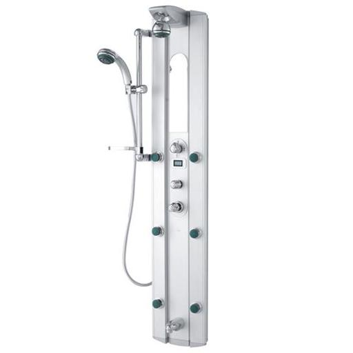 VIGO Palmyra Shower Massage Panel with Digital Thermometer and Spout