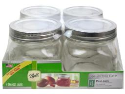 Bll1440061180 ball jar pint wide mouth elite clear 4pc