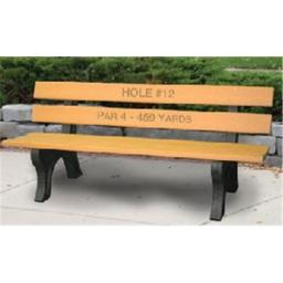 Engineered Plastic Systems TSB6 Trail 6ft Side Bench in Cedar - with Plastic Legs