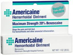 Americaine Maximum Strength Hemorrhoid Ointment - 1 Oz, Pack Of 4