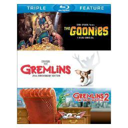 Goonies/gremlins/gremlins 2-new batch (blu-ray/tfe/3 disc) BR336830