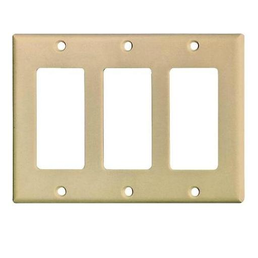 Cooper Wiring 2163v-box 3 Gang Decorator Wall Plate, Ivory