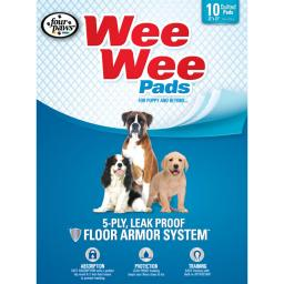 Four paws 100534711 white four paws wee-wee pads 10 pack white 22 x 23 x 0.1