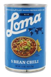 Loma Linda - Loma Blue Vegan 5 Bean Chili - 15 oz.