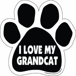 I Love My Grandcat Paw Magnet Dog Cat 5.5