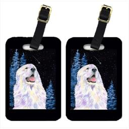 Carolines Treasures SS8466BT Starry Night Great Pyrenees Luggage Tags - Pair Of 2