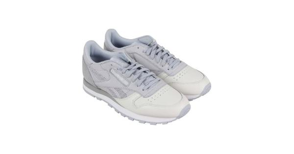 67b10841add Reebok Classic Leather Ue Mens Gray Leather Athletic Lace Up ...