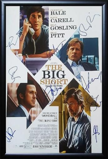 The Big Short - Signed Movie Poster in Wood Frame with COA