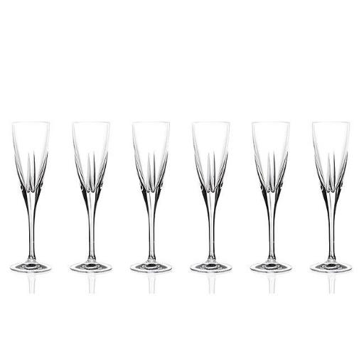 Lorenzo Import 239870 RCR Fusion Crystal Champagne Glass sey of 6