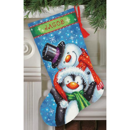 "Polar Pals Stocking Needlepoint Kit-16"" Long Stitched In Thread HVXGGMJITP5KRSFF"