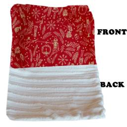 Mirage Pet 500-154 RHWCB Luxurious Plush Carrier Blanket Red Holiday Whimsy