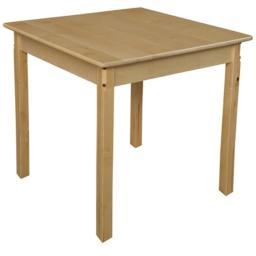 Wood Designs 83329 30 in. Square Hardwood Table With 29 in. Legs